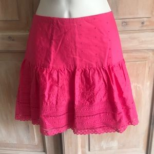 Lilly Pulitzer Eyelet Skirt Woman's 6